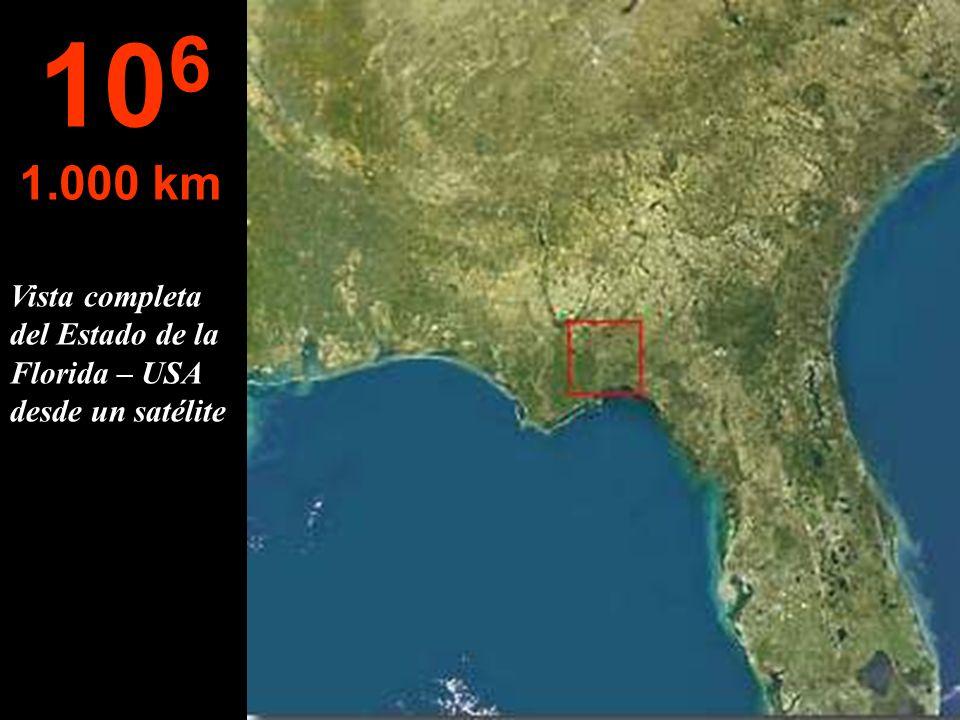 A esta altura, el Estado de Florida - USA, puede ser visto casi por completo... 10 5 100 km
