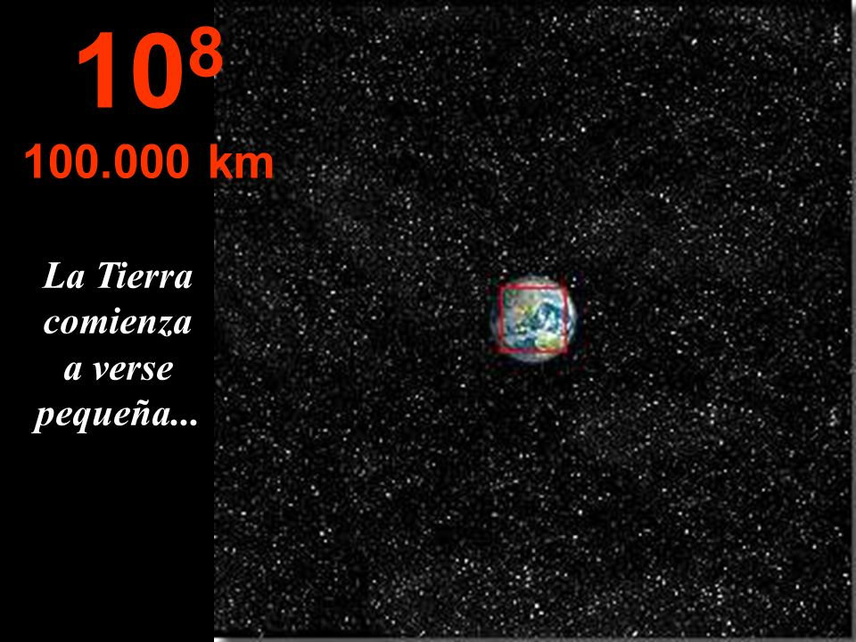 Se puede observar todo Norte y Centro America divisándose parte de Sur America. 10 7 10.000 km