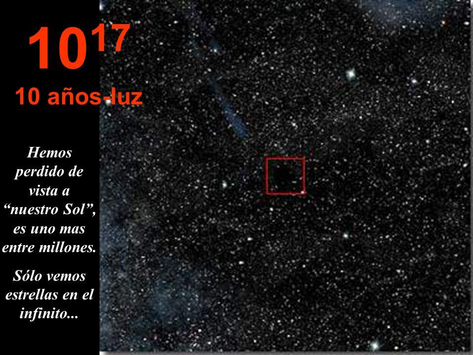 Arribamos a otra grandeza... El año-luz La estrella Sol cada vez es mas pequeña. 10 16 1 año-luz