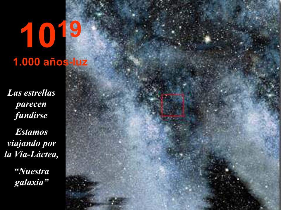 Nada Sólo estrellas y nebulosas 10 18 100 años-luz