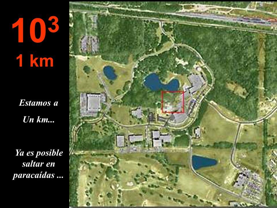 Estamos a Un km... Ya es posible saltar en paracaídas... 10 3 1 km