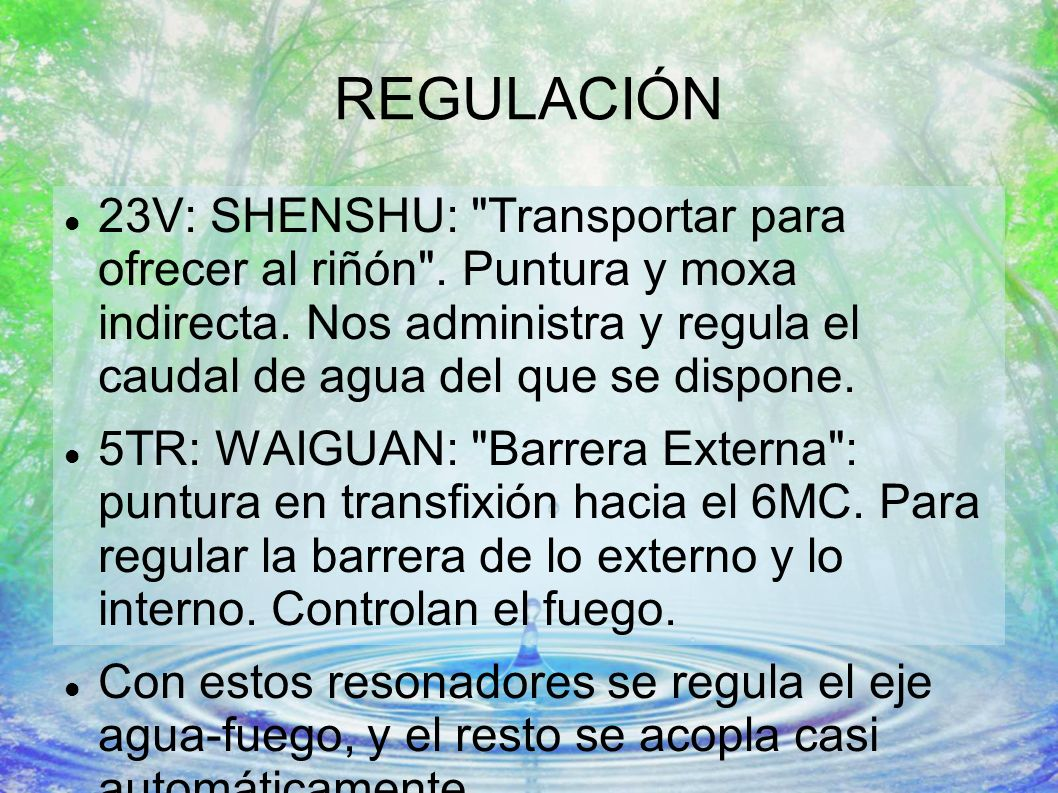 REGULACIÓN 23V: SHENSHU: