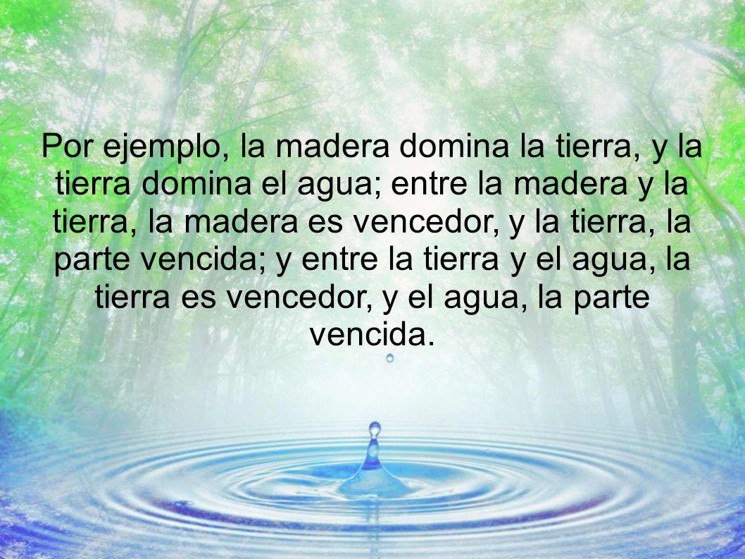Finalmente, cuando la Madera está mucho tiempo en plenitud, por la causa que sea, se vuelve contra el Agua paralizando su actividad y apareciendo mareos, intranquilidad, miedo, cefaleas, nicturia, oliguria, sordera...