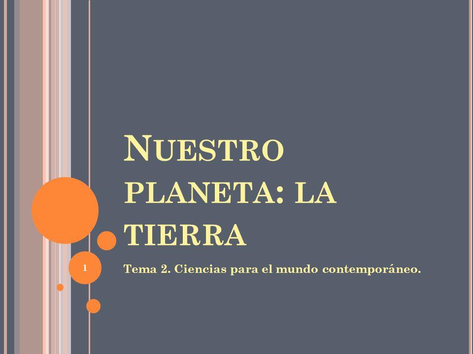 INDICE TEMA 2: NUESTRO PLANETA LA TIERRA 1.