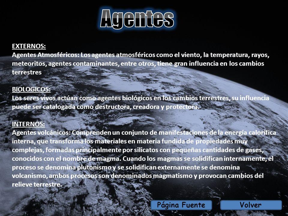 EXTERNOS: Agentes Atmosféricos: Los agentes atmosféricos como el viento, la temperatura, rayos, meteoritos, agentes contaminantes, entre otros, tiene