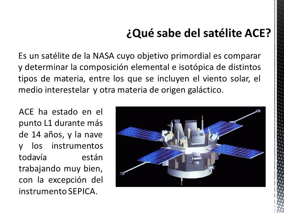Es un satélite de la NASA cuyo objetivo primordial es comparar y determinar la composición elemental e isotópica de distintos tipos de materia, entre