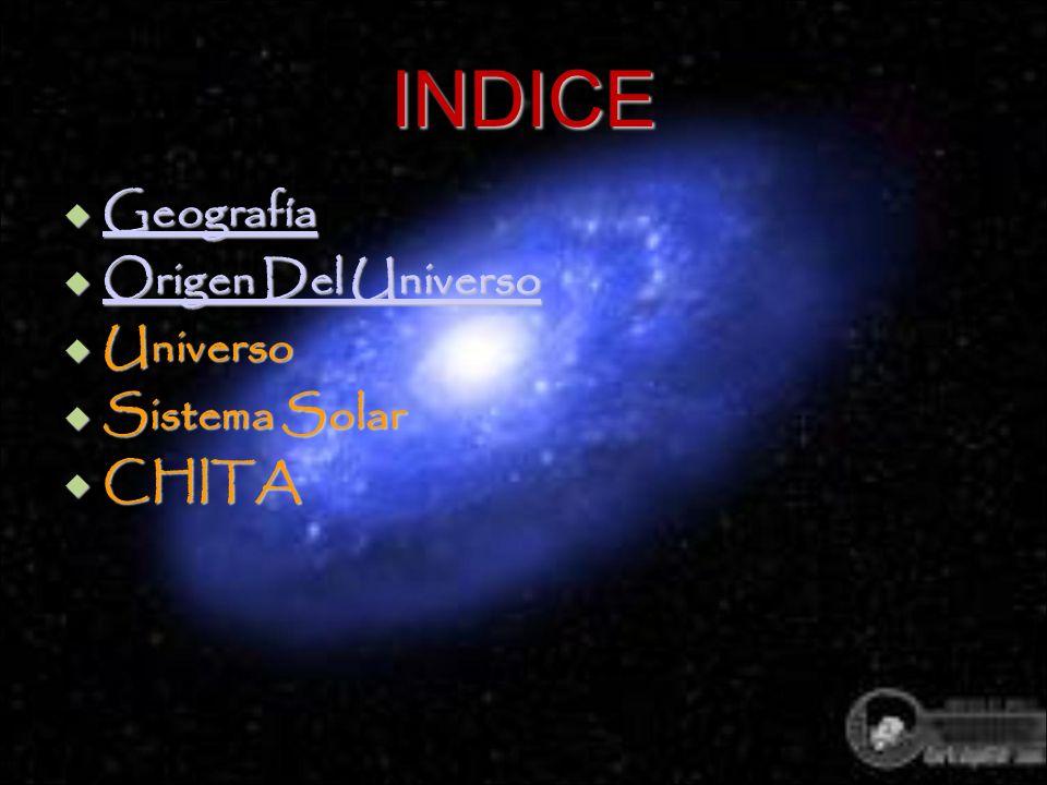 INDICE Geografía Geografía Geografía Origen Del Universo Origen Del Universo Origen Del Universo Origen Del Universo Universo Universo Sistema Solar S