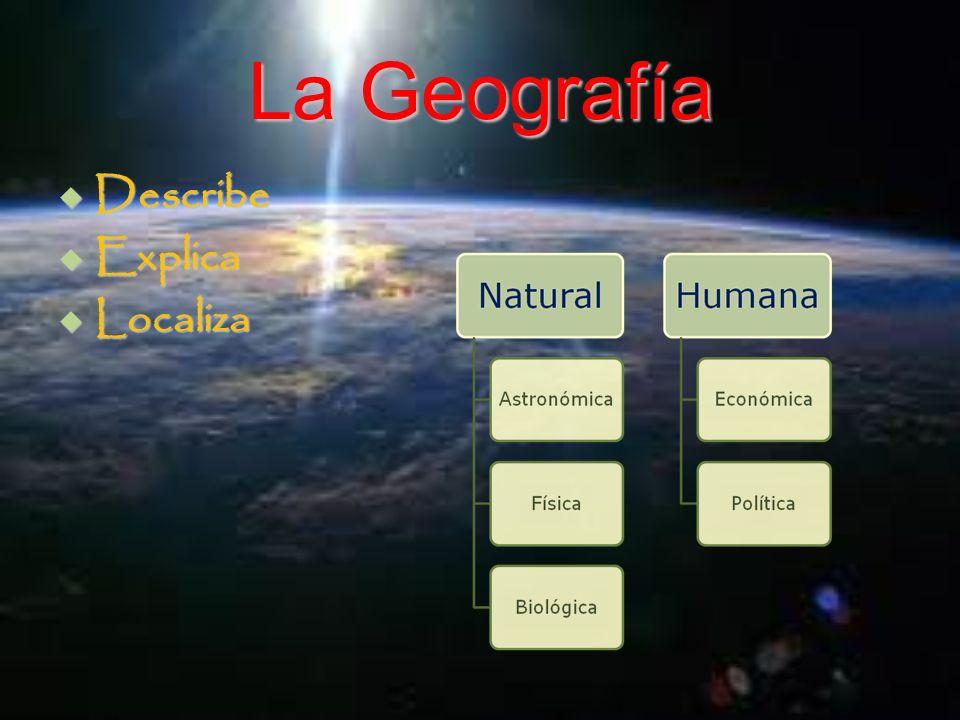 La Geografía Describe Describe Explica Explica Localiza Localiza