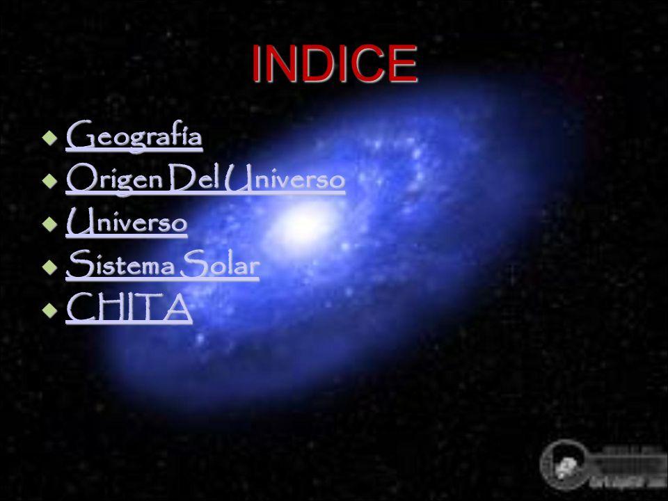 INDICE Geografía Geografía Geografía Origen Del Universo Origen Del Universo Origen Del Universo Origen Del Universo Universo Universo Universo Sistem