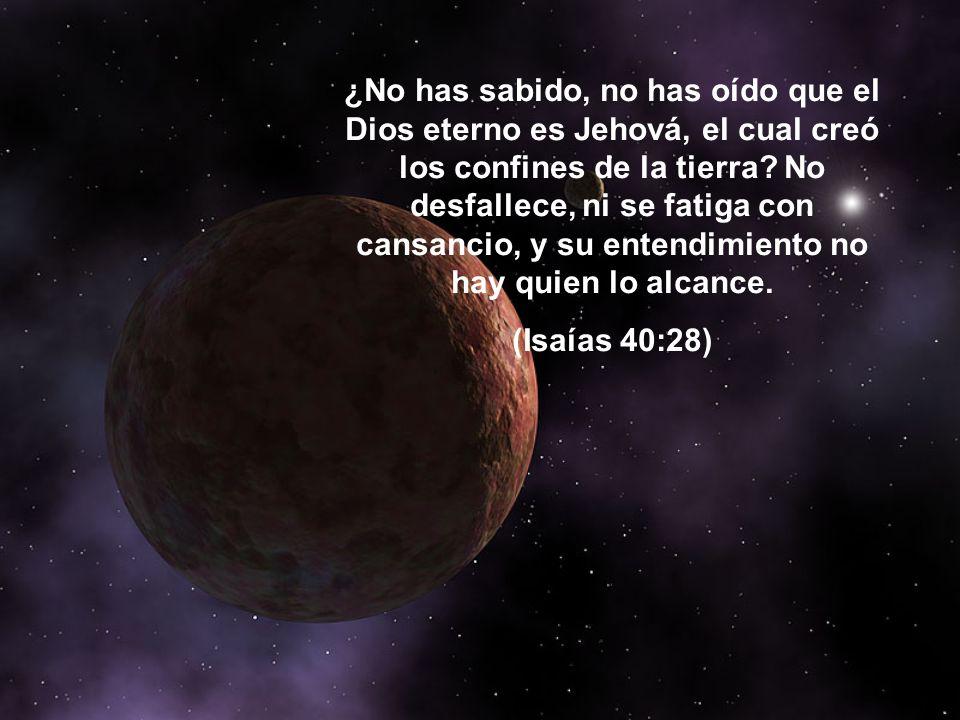 ¿No has sabido, no has oído que el Dios eterno es Jehová, el cual creó los confines de la tierra.