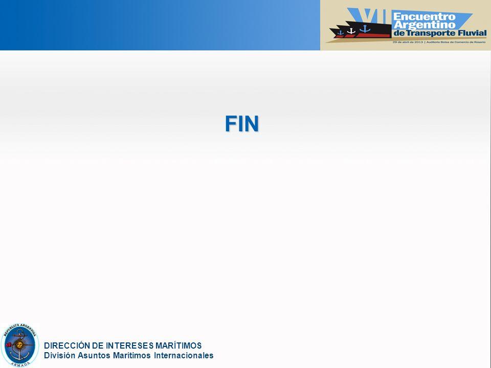 YOUR LOGO DIRECCIÓN DE INTERESES MARÍTIMOS División Asuntos Marítimos Internacionales FIN