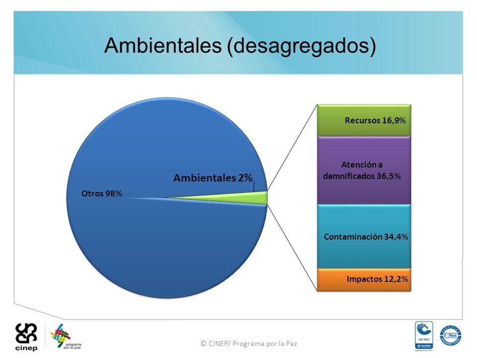 © CINEP/ Programa por la Paz Ambientales (desagregados)