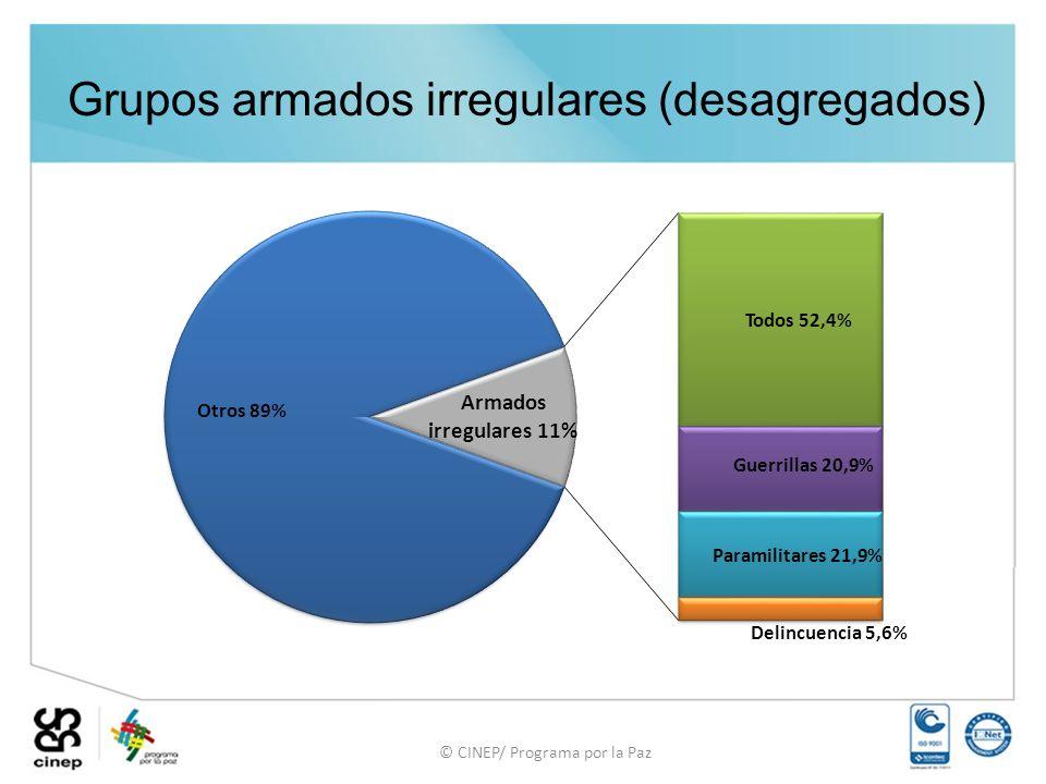 © CINEP/ Programa por la Paz Grupos armados irregulares (desagregados)