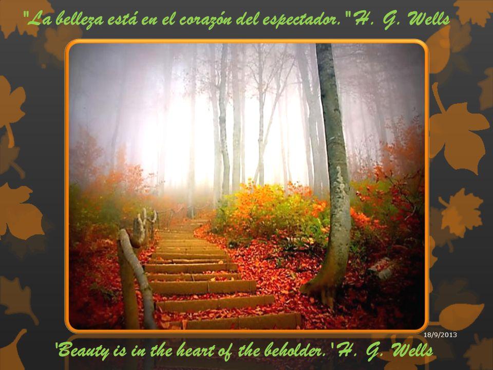 La belleza está en el corazón del espectador. H.