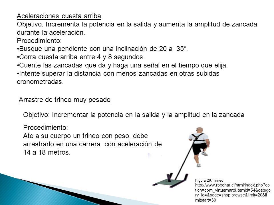 Skipping en altura Objetivo: Incrementar la fuerza de extensión y de flexión de la cadera, incrementar la potencia en piernas y la amplitud de la zancada.