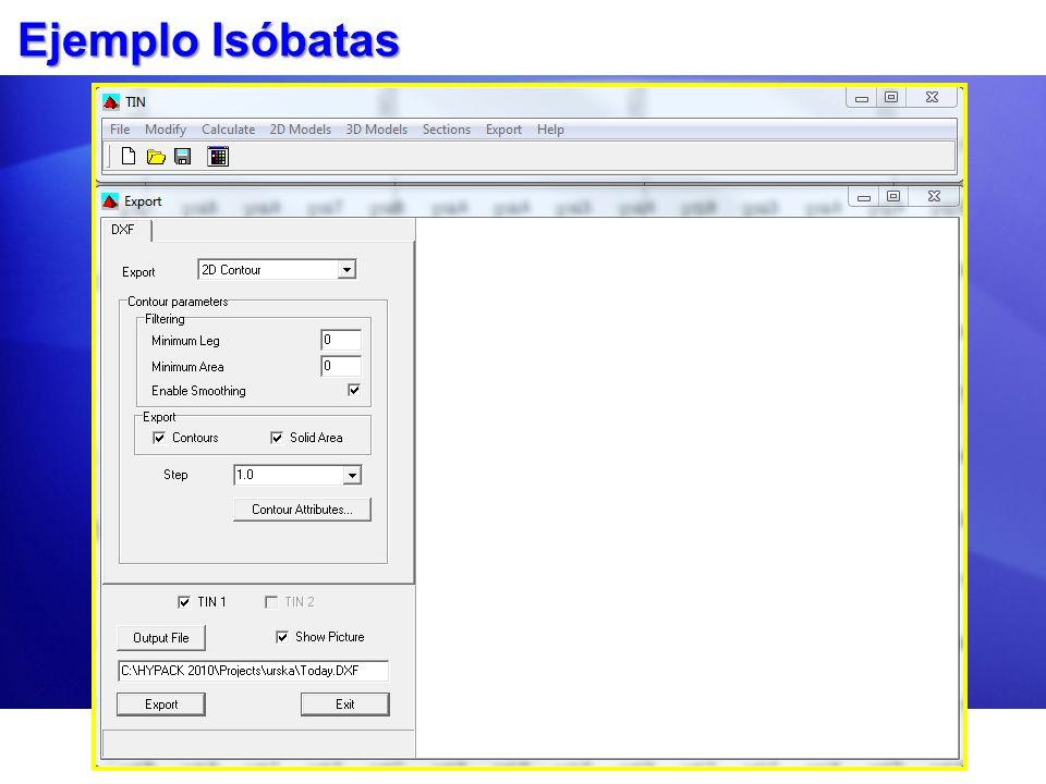 Mejorando sus Isóbatas Haga isóbatas de un archivo de datos reducido en vez de uno editado.