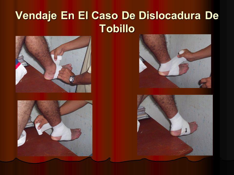 Vendaje En El Caso De Dislocadura De Tobillo