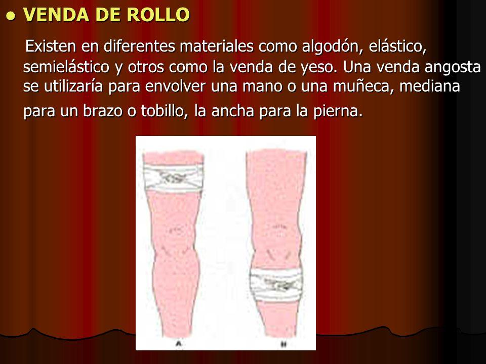 VENDAJE EN OCHO O TORTUGA Se utiliza en las articulaciones (tobillo, rodilla, hombro, codo, muñeca), ya que permite a estas tener una cierta movilidad.