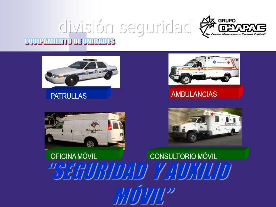 SEGURIDAD Y AUXILIO MÓVIL PATRULLAS AMBULANCIAS OFICINA MÓVILCONSULTORIO MÓVIL