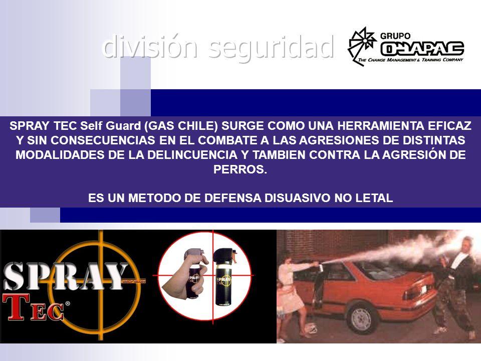 SPRAY TEC Self Guard (GAS CHILE) SURGE COMO UNA HERRAMIENTA EFICAZ Y SIN CONSECUENCIAS EN EL COMBATE A LAS AGRESIONES DE DISTINTAS MODALIDADES DE LA D