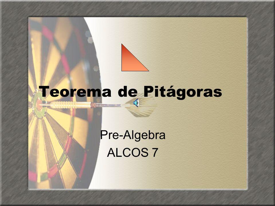 El inverso del Teorema de Pitágoras Si a2 + b2 = c2, entonces el triángulo de lados a, b, c es un triángulo rectángulo Si a, b, c satisfacen la ecuación a2 + b2 = c2, a continuación, A, B y C que se conoce como ternas pitagóricas.