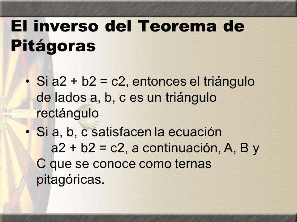 Solución del ejemplo 4 Ejemplo 4: Encuentre la longitud de la pierna de un triángulo rectángulo siguiente. 13 a 5 _______________