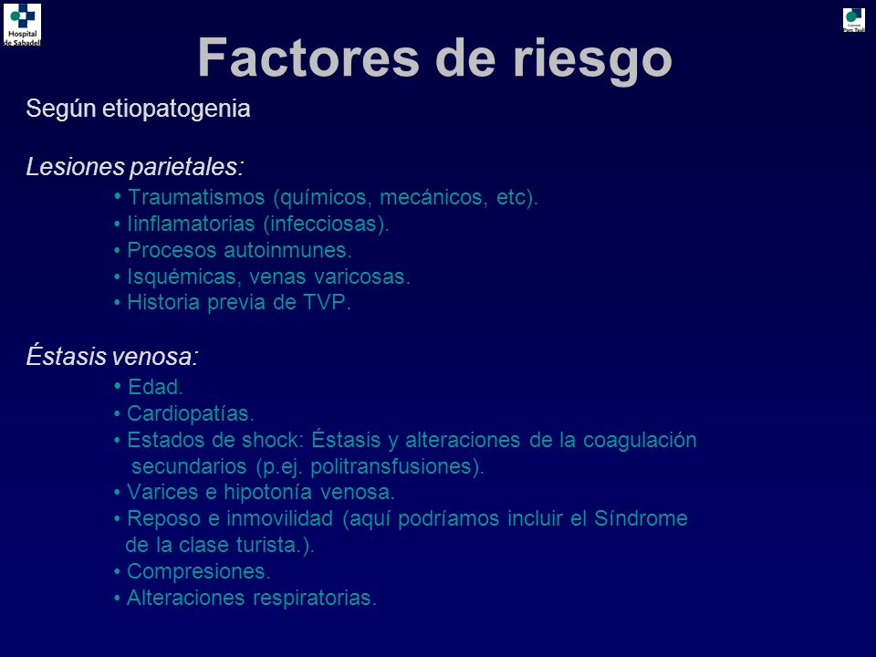 Según etiopatogenia Lesiones parietales: Traumatismos (químicos, mecánicos, etc). Iinflamatorias (infecciosas). Procesos autoinmunes. Isquémicas, vena