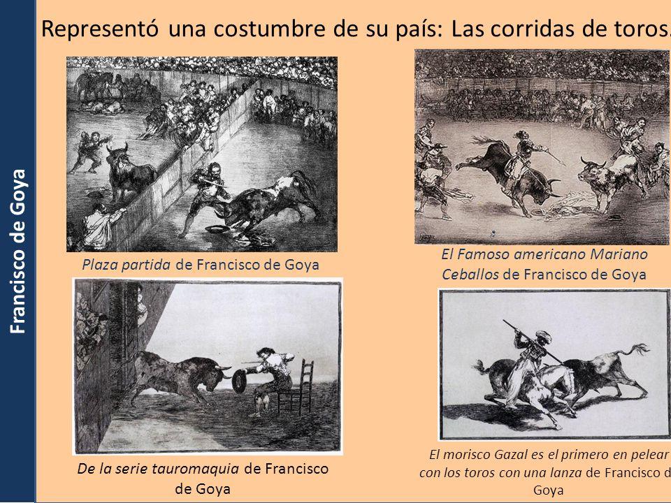 Francisco de Goya Plaza partida de Francisco de Goya Imágenes en wikimediacommons. Org (Pd Arte, Pd Old) El Famoso americano Mariano Ceballos de Franc