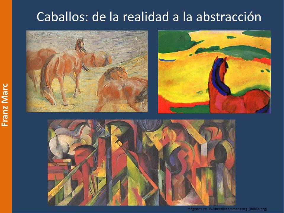 Caballos: de la realidad a la abstracción Franz Marc Imágenes en Wikimediacommons.org (ibiblio.org)