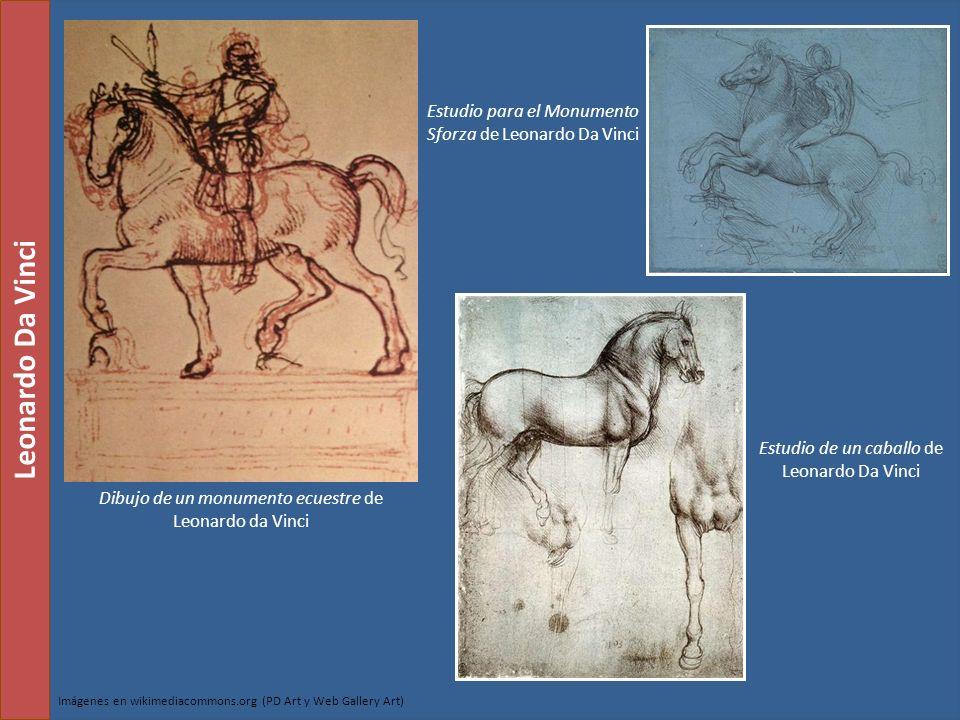 Dibujo de un monumento ecuestre de Leonardo da Vinci Estudio para el Monumento Sforza de Leonardo Da Vinci Leonardo Da Vinci Estudio de un caballo de