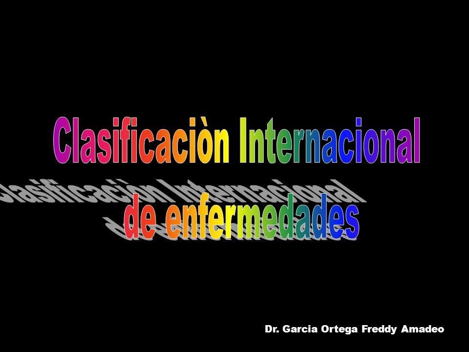 Familia de clasificaciones de enfermedades y problemas relacionados con la salud presentado en la revisión de la CIE-10.1989.