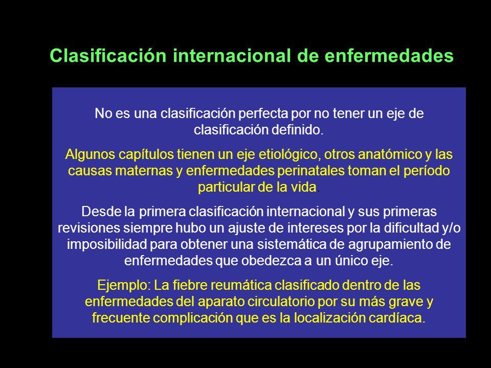 Clasificación Estadística Internacional de Enfermedades y Problemas Relacionados con la Salud, Décima Revisión , Edición 2003 Esta nueva edición en español de la 10ª revisión de la Clasificación Internacional de Enfermedades incluye todas las actualizaciones aprobadas entre 1996 y 2003.