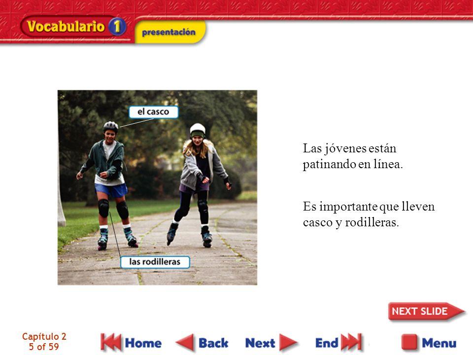 Capítulo 2 5 of 59 Las jóvenes están patinando en línea.