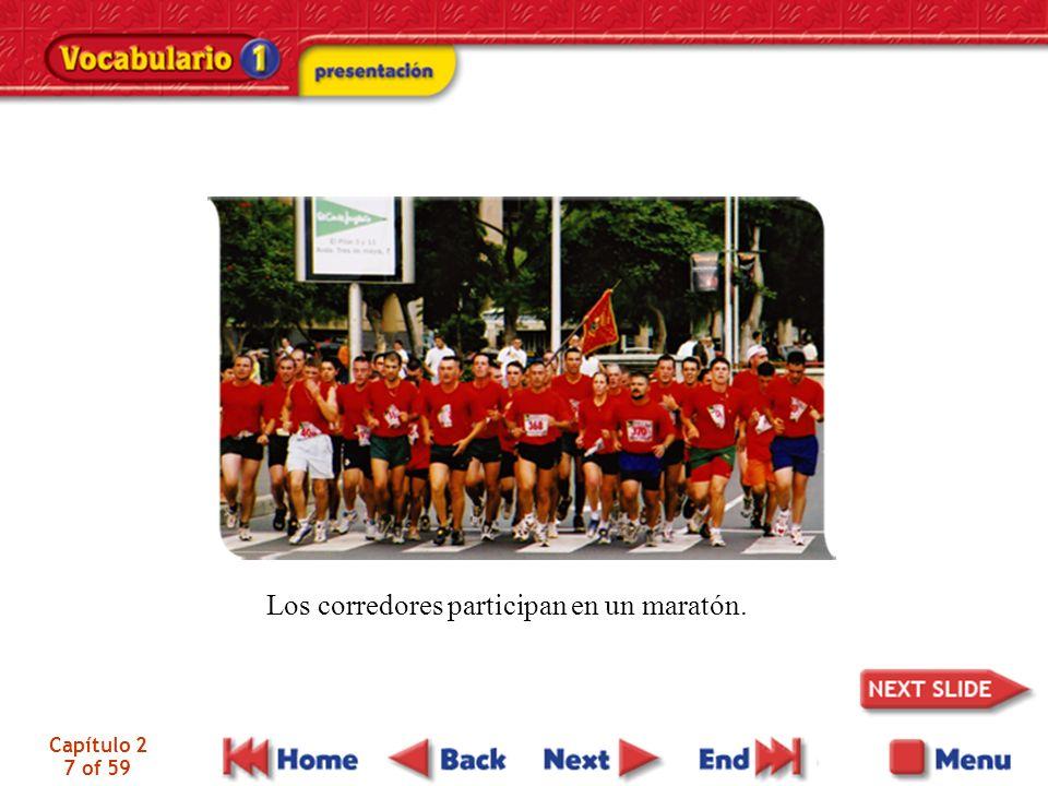 Capítulo 2 7 of 59 Los corredores participan en un maratón.