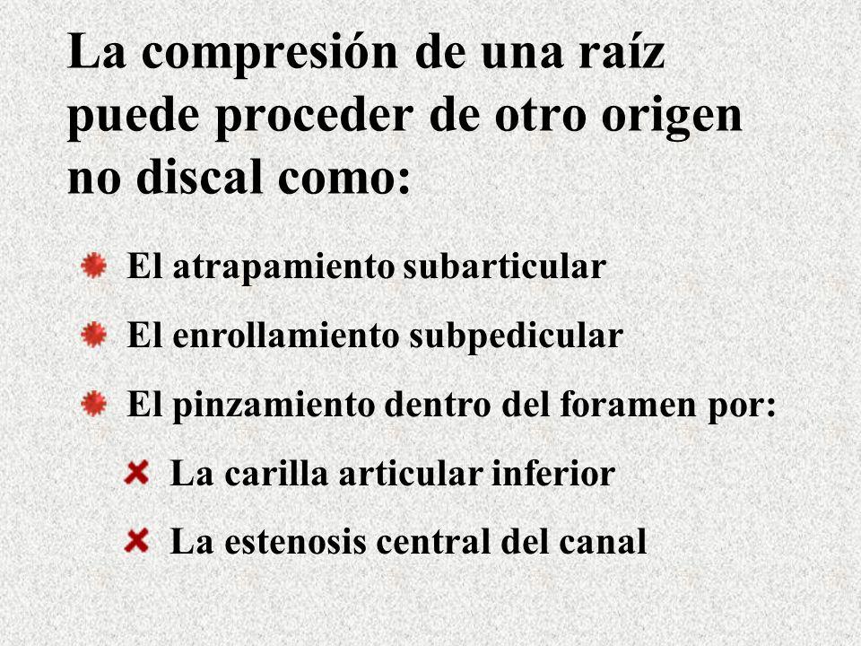 Es posible que el efecto isquémico acompañante a la compresión o inflamación tenga una mayor responsabilidad.
