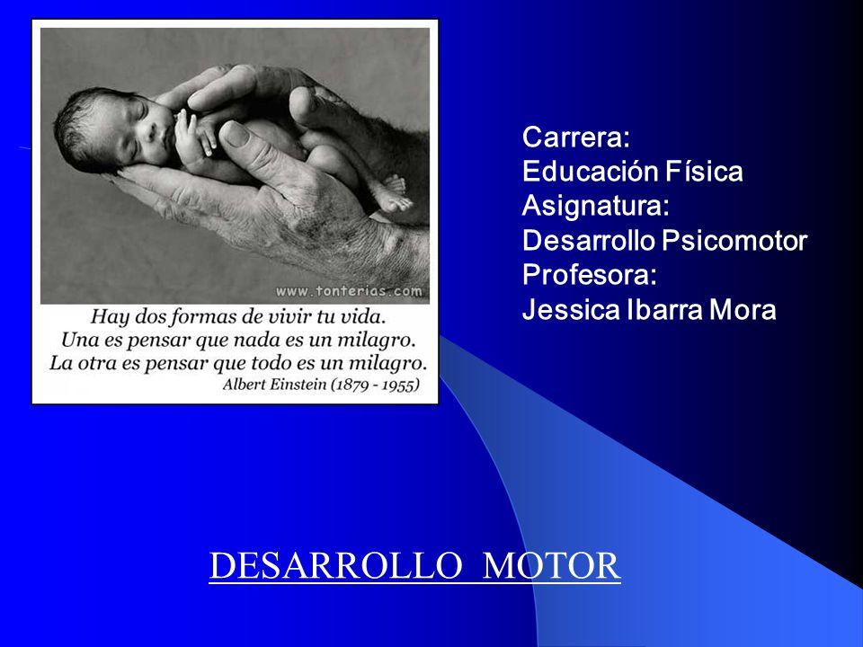 Carrera: Educación Física Asignatura: Desarrollo Psicomotor Profesora: Jessica Ibarra Mora DESARROLLO MOTOR