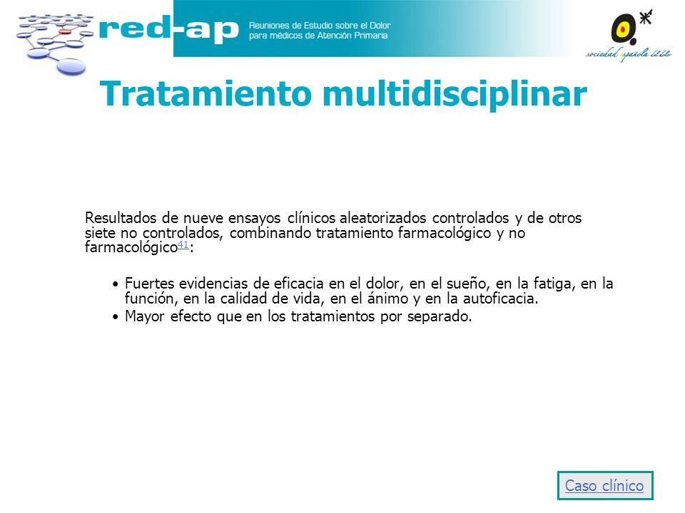 Tratamiento multidisciplinar Resultados de nueve ensayos clínicos aleatorizados controlados y de otros siete no controlados, combinando tratamiento fa