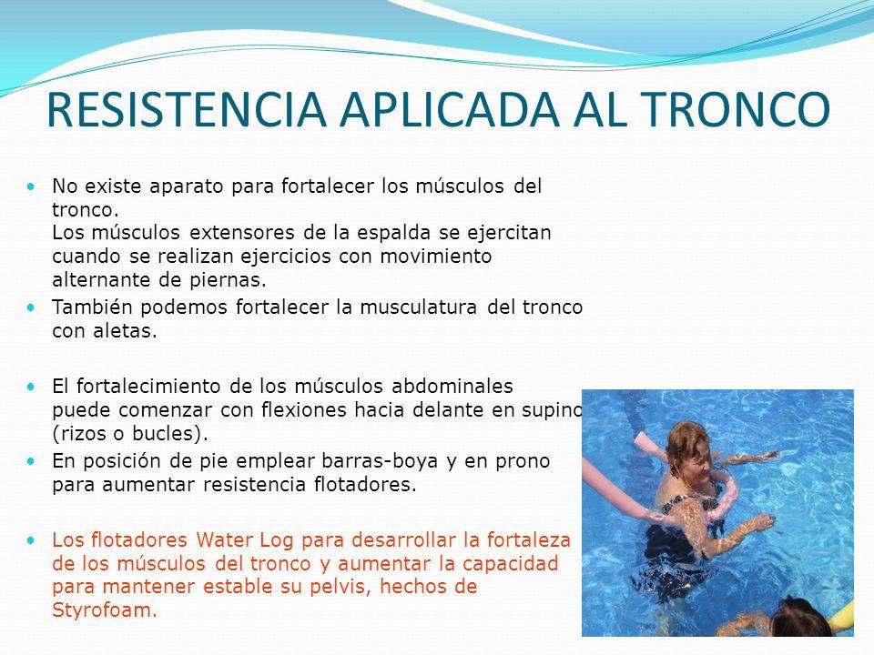 RESISTENCIA APLICADA AL TRONCO No existe aparato para fortalecer los músculos del tronco.