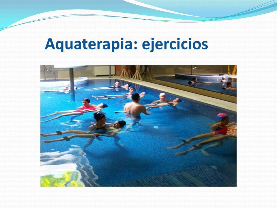 Aquaterapia: ejercicios