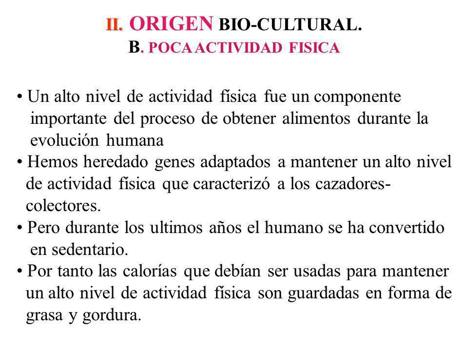 II.II. ORIGEN BIO-CULTURAL. B.
