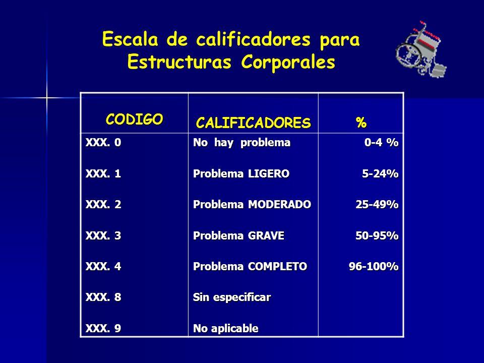 CODIGOCALIFICADORES% XXX.0 XXX. 1 XXX. 2 XXX. 3 XXX.