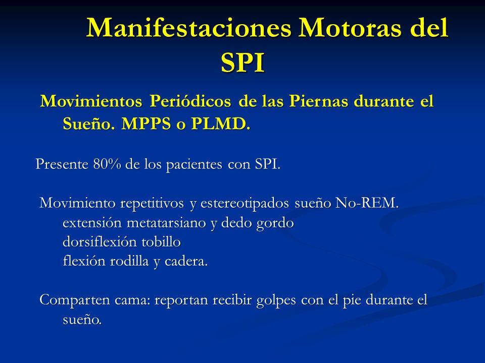 Movimientos Periódicos de las Piernas durante el Sueño. MPPS o PLMD. Movimientos Periódicos de las Piernas durante el Sueño. MPPS o PLMD. Presente 80%