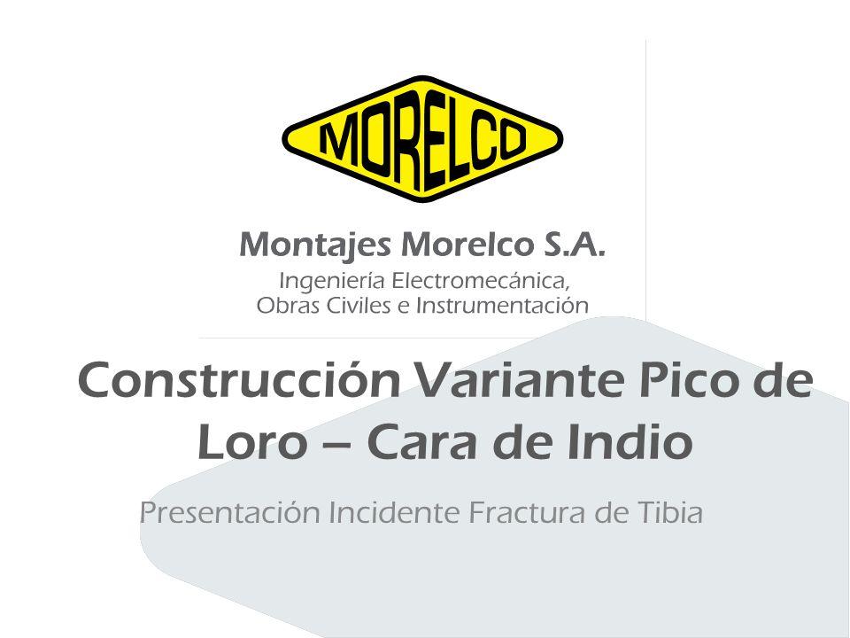 Construcción Variante Pico de Loro – Cara de Indio Presentación Incidente Fractura de Tibia