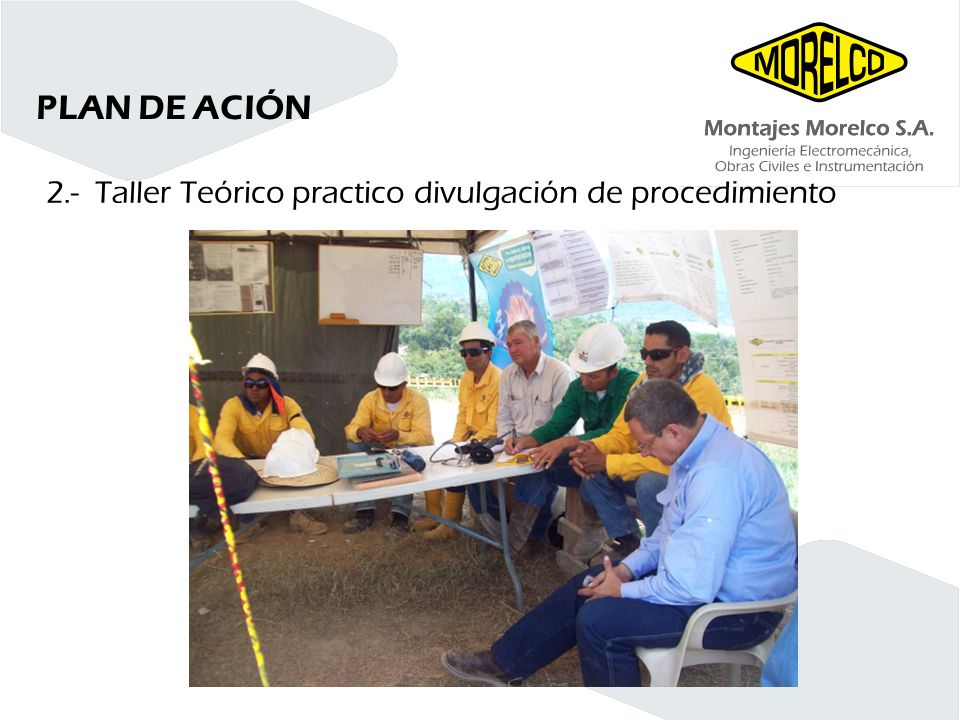 PLAN DE ACIÓN 2.- Taller Teórico practico divulgación de procedimiento