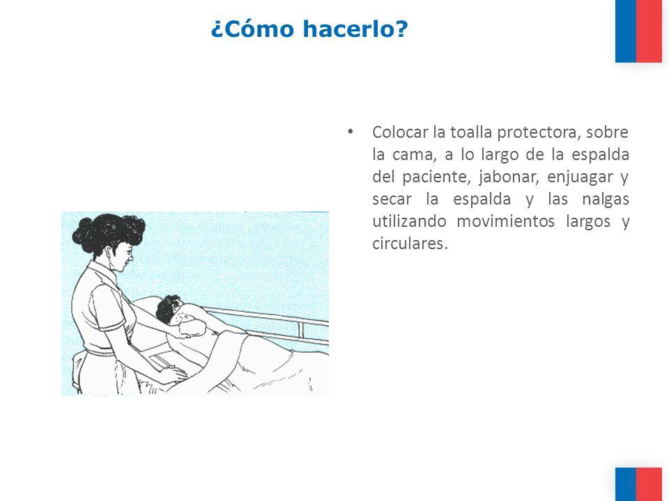 ¿Cómo hacerlo.Realizar un masaje en la espalda.