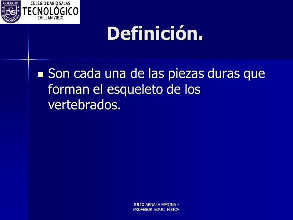 JULIO ABDALA MEDINA - PROFESOR EDUC.FÍSICA Definición.