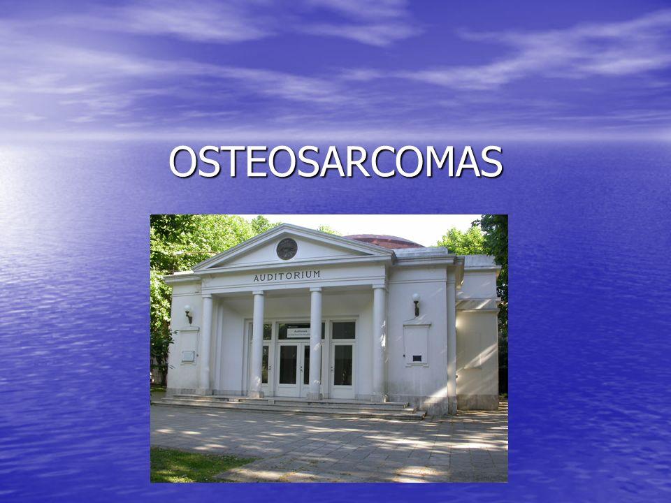 Es el TM óseo más fr Es el TM óseo más fr El osteosarcoma debe de ser considerado una enfermedad sistémica.