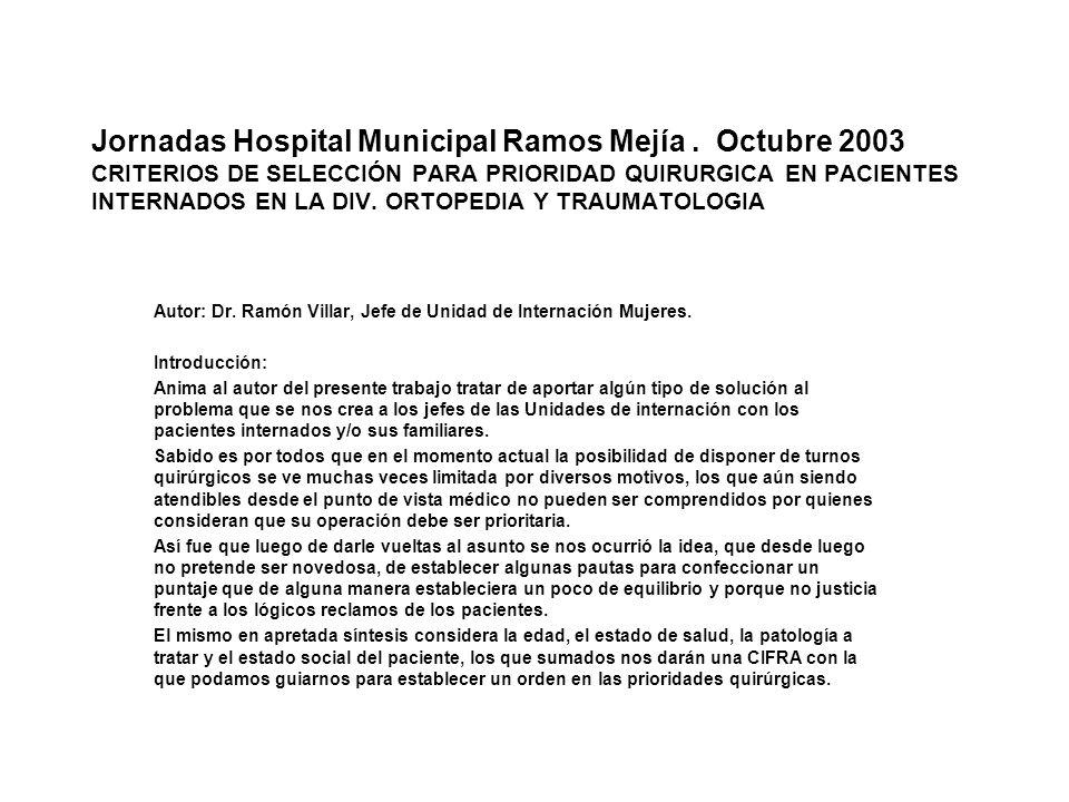 Jornadas Hospital Municipal Ramos Mejía.
