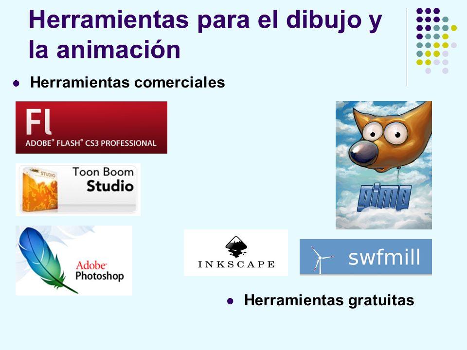 Herramientas para el dibujo y la animación Herramientas comerciales Herramientas gratuitas