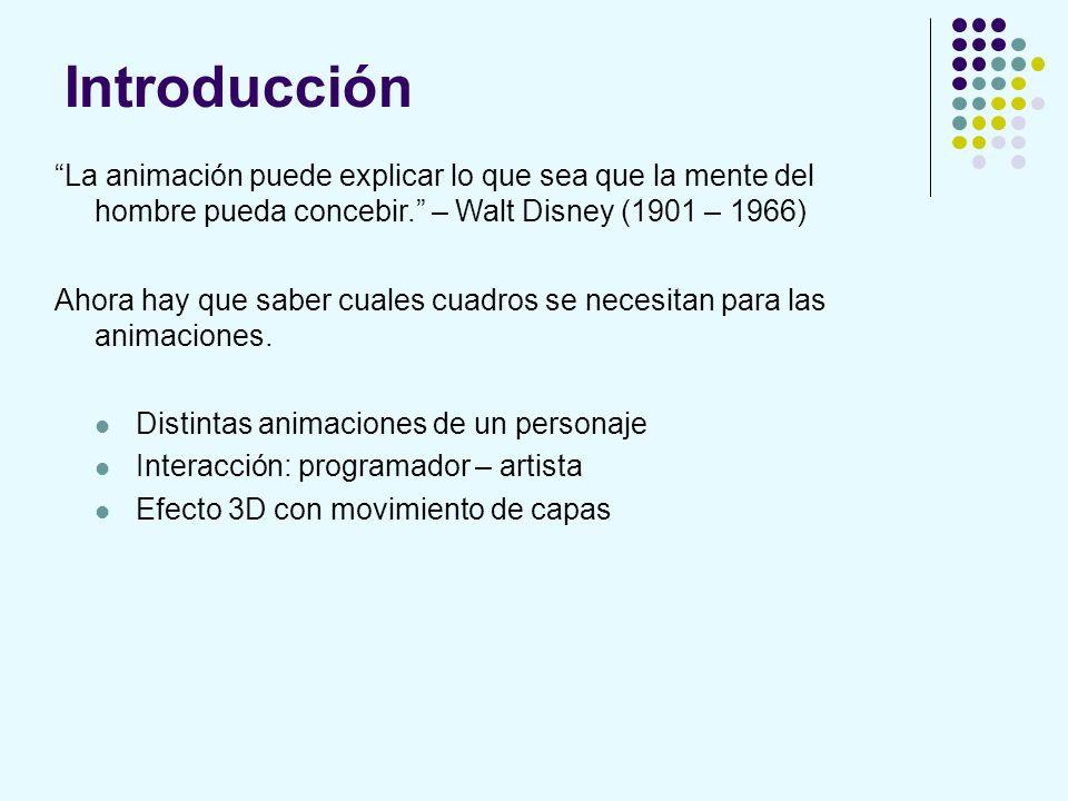 Introducción La animación puede explicar lo que sea que la mente del hombre pueda concebir. – Walt Disney (1901 – 1966) Ahora hay que saber cuales cua